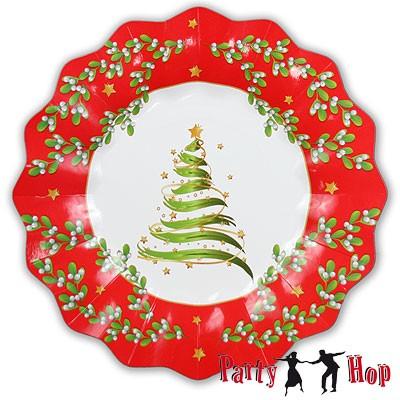 Pappteller Weihnachtsbaum groß