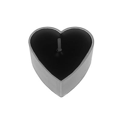 teelichte herzform schwarz hochzeits dekorationen valentinstag romantische tischdeko. Black Bedroom Furniture Sets. Home Design Ideas