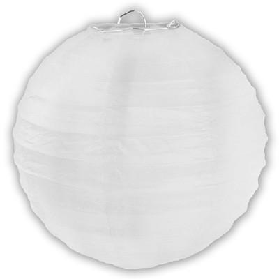 Partydeko großer weißer Papierlampion xl