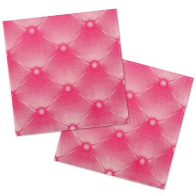 Servietten pink Steppoptik