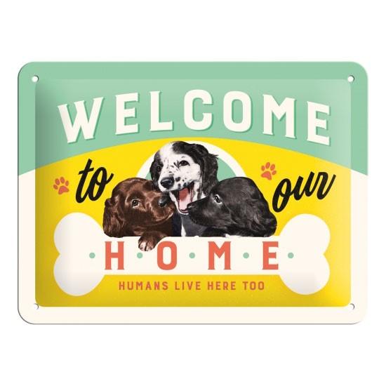 Blechschild Welcome Puppies