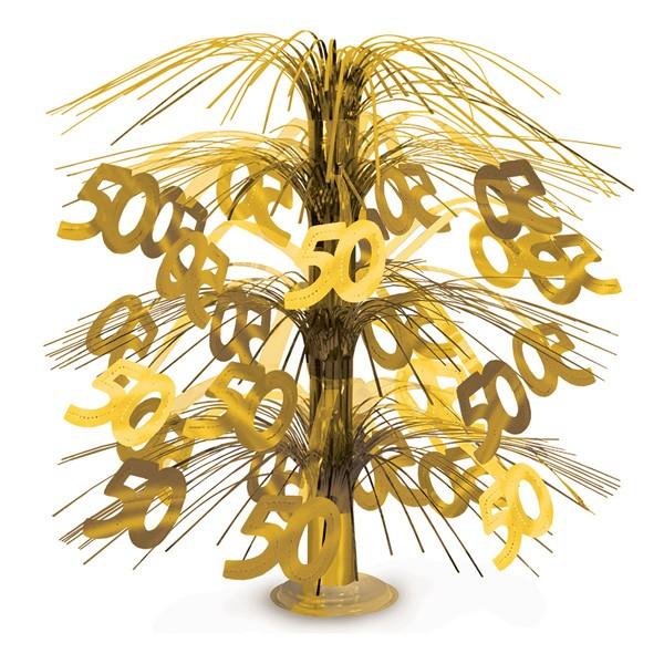 Tischdeko goldene 50 Cascade