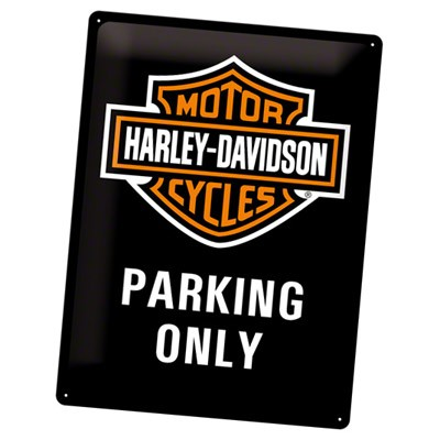 Blechschild Harley-Davidson Parking Only
