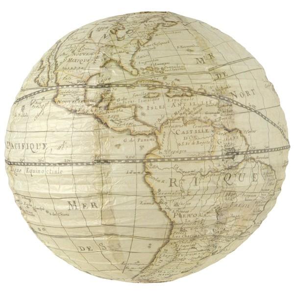Dekolampion Weltkarte