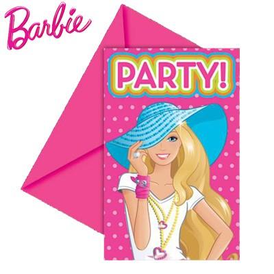 Einladungsset Barbie