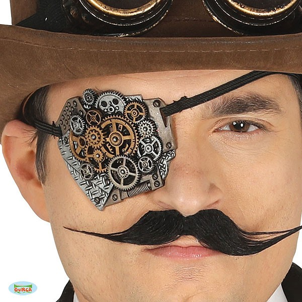Steampunk Augenklappe Zahnrad-Design