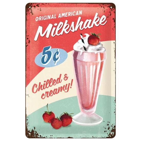 Blechschild American Milkshake
