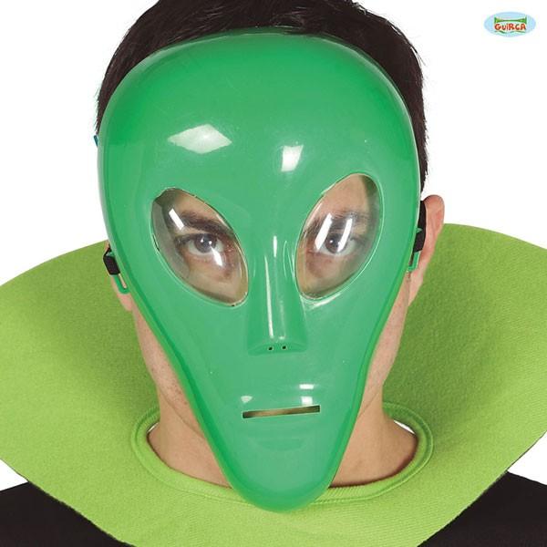 Grüne Alienmaske einfach