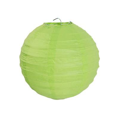 Partydeko Papierlampions hellgrün mittel 20cm