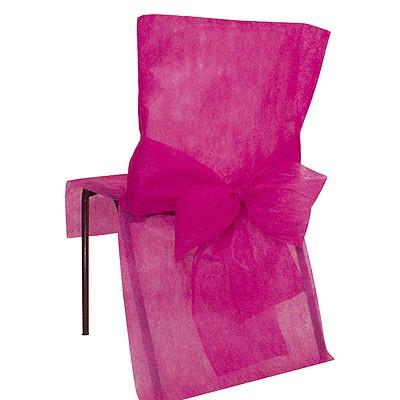 Stuhlhussen Schleife pink