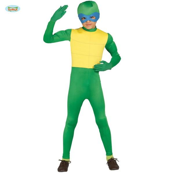 Kinderkostüm Grüner Ninja 10-12 Jahre