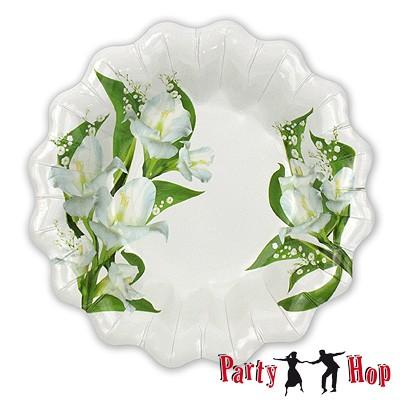 Pappteller Bouquet tief