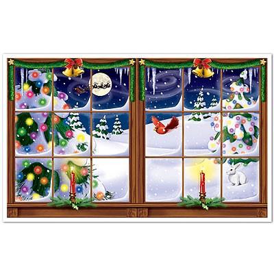 Wanddeko Weihnachts-Winterlandschaft