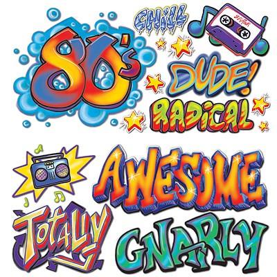 Party-Wanddeko 80er Jahre Graffiti