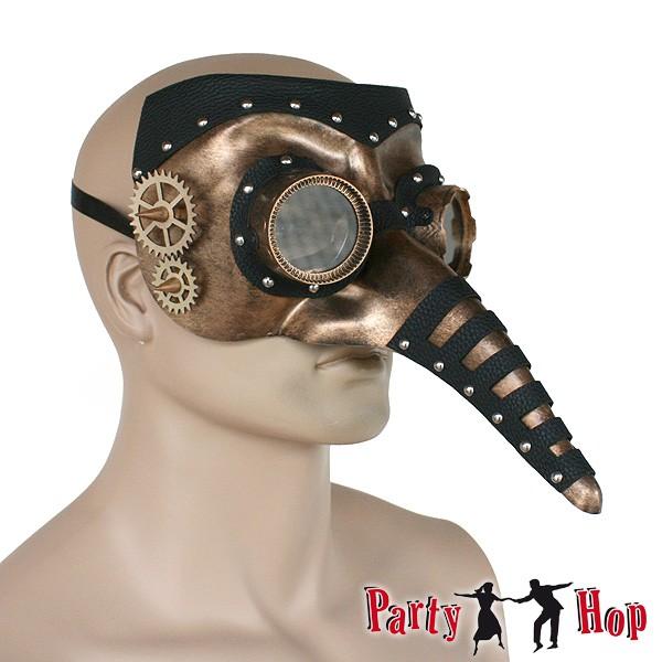 Steampunk Schnabelmaske Zahnräder