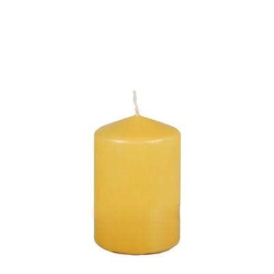 Stumpenkerze gelb