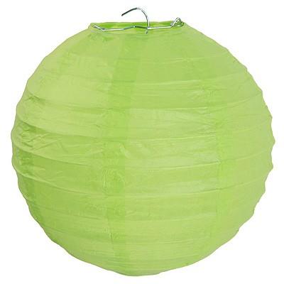 Partydeko großer hellgrüner Papierlampion xl