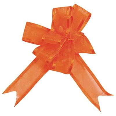 Dekoschleifen selbstraffend orange