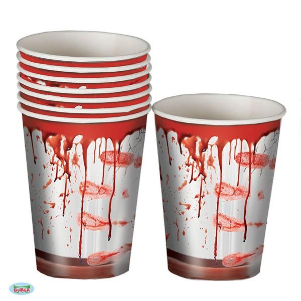 Halloween Pappbecher Blutspritzer