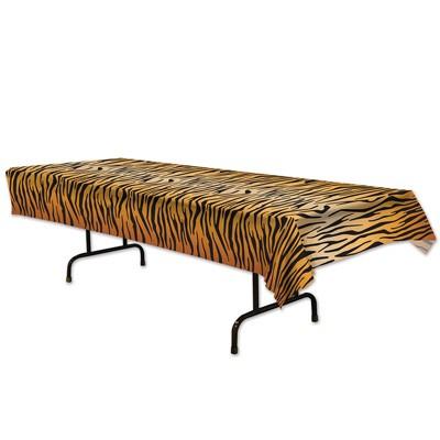 Plastiktischdecke Tiger-Muster