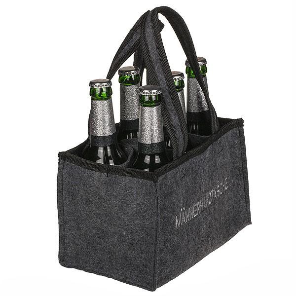 Männerhandtasche für Bier