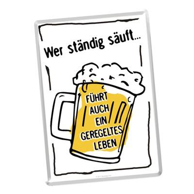 Blech Postkarte Bier Spruch Grußkarte Geschenkidee Nostalgic Art