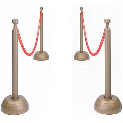 Absperrpfosten Set mit Seil