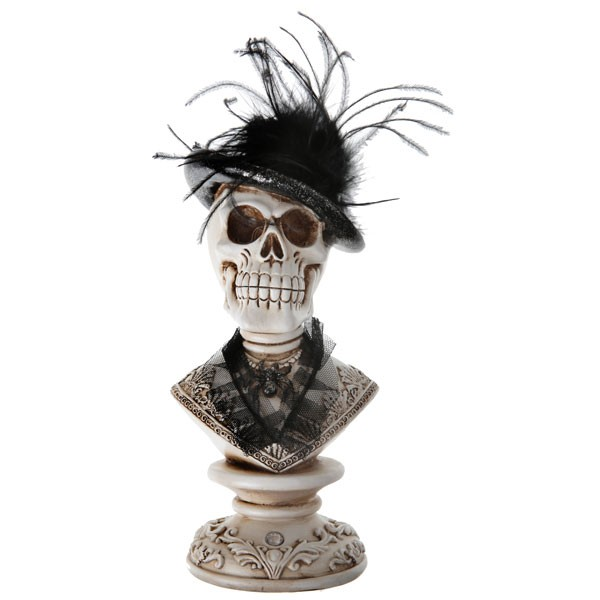 Dekobüste viktorianische Totenkopf Lady