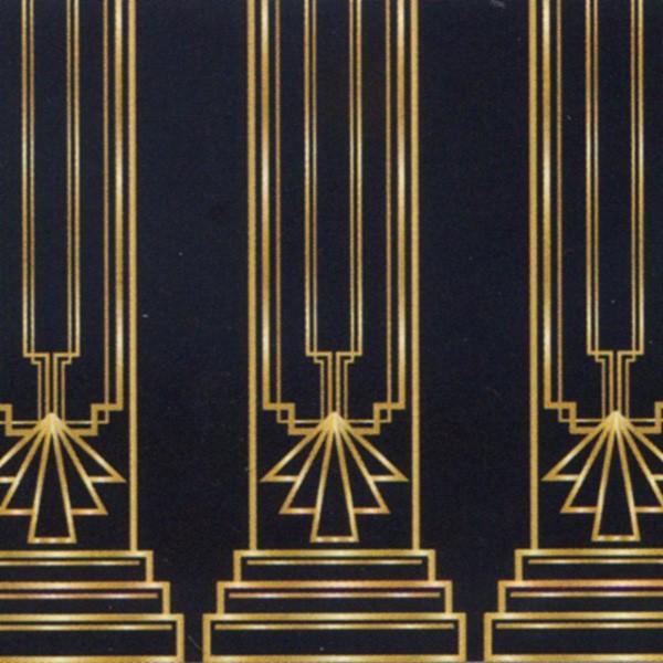 Wandverkleidung Partydeko 20er Jahre Art-Deco
