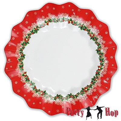 Pappteller Weihnachtstraum groß