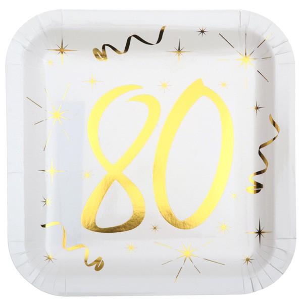Partyteller 80. Geburtstag gold