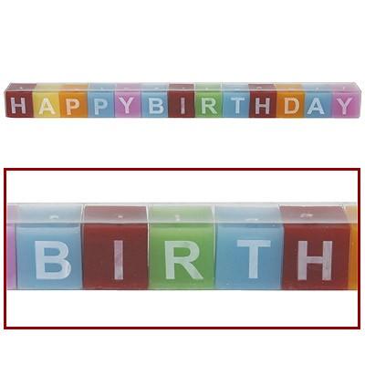 Kerzen-Set Happy Birthday