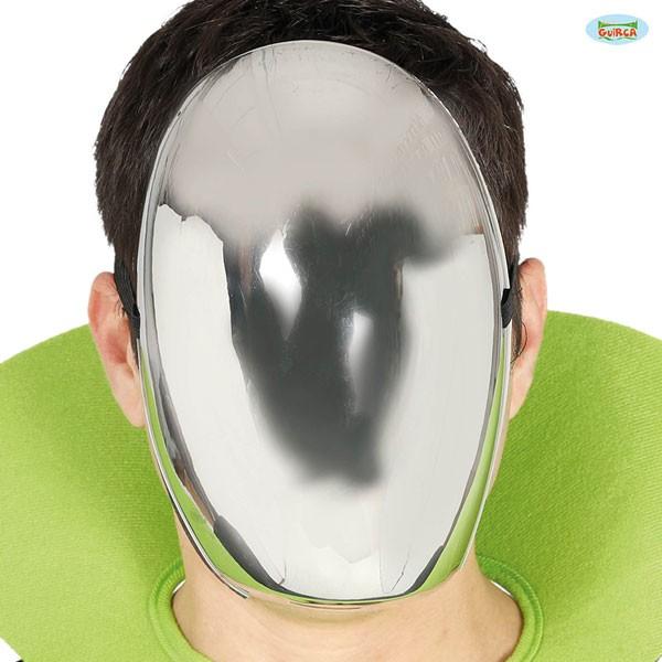 Silberne Spiegelmaske