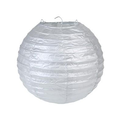 Partydeko Papierlampions M silber