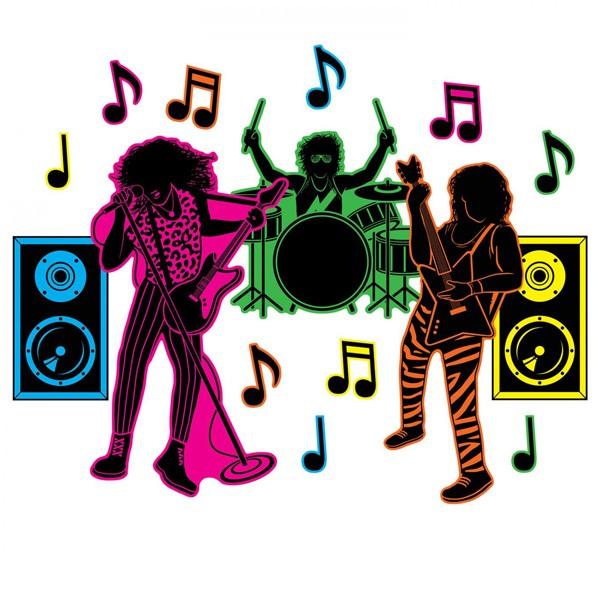 Partydeko 80er Jahre Rockband