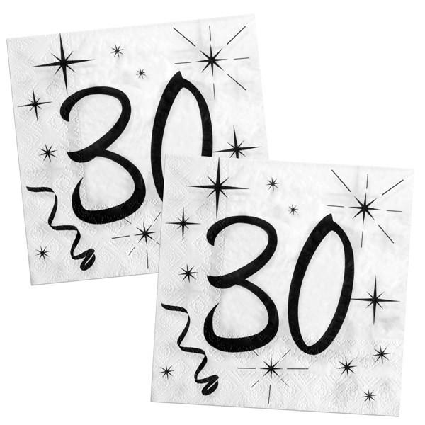 Servietten 30ster Geburtstag