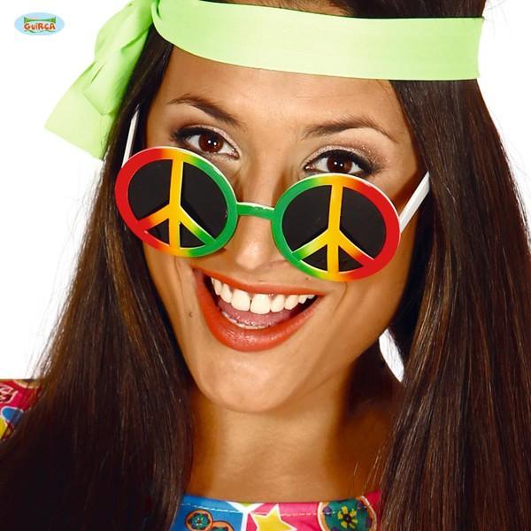 Hippie-Sonnenbrille Peacezeichen