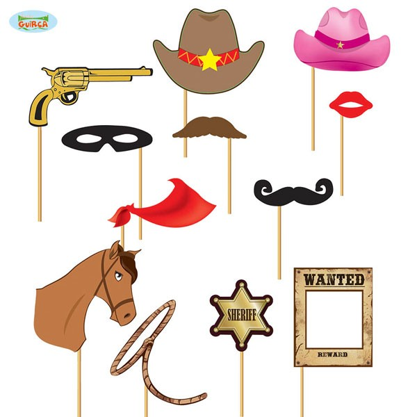 Foto Requisiten Set Wild West Party