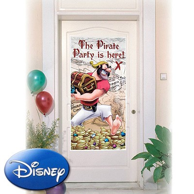 Partydeko Türposter Disney Pirates