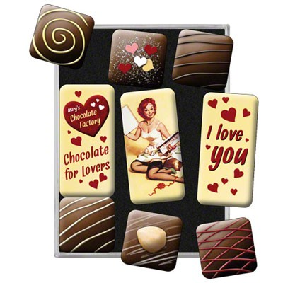 Magnet-Set Chocolate Love