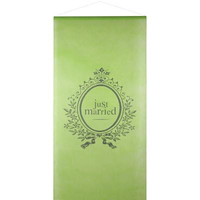 Wandbehang Just Married grün