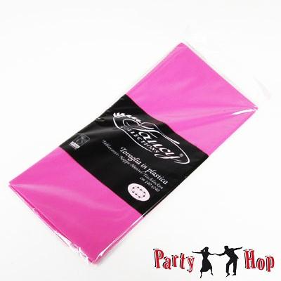 Plastik-Tischdecke pink