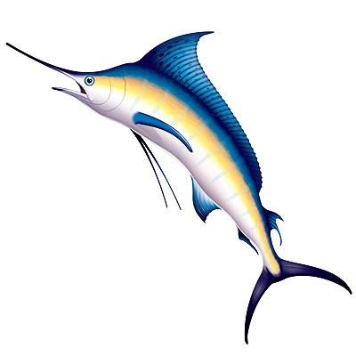 Party-Wanddeko Marlin Speerfisch