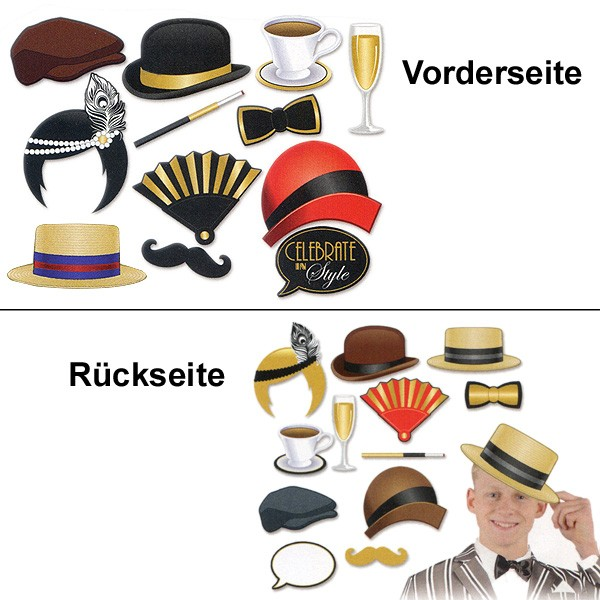 foto requisiten set 20er jahre party gangster mottoparty spa photo booth fun goldene zwanziger. Black Bedroom Furniture Sets. Home Design Ideas
