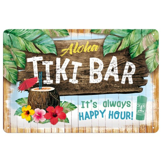 Blechschild Aloha Tiki Bar