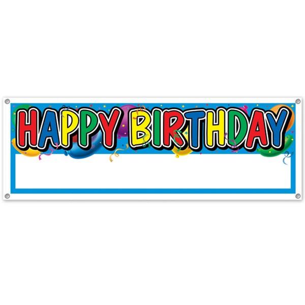 Dekobanner Happy Birthday mit Freifläche