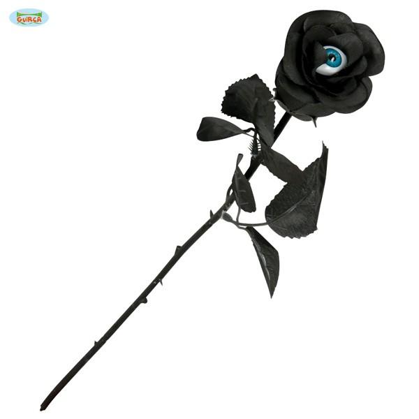 Schwarze Deko-Rose Auge