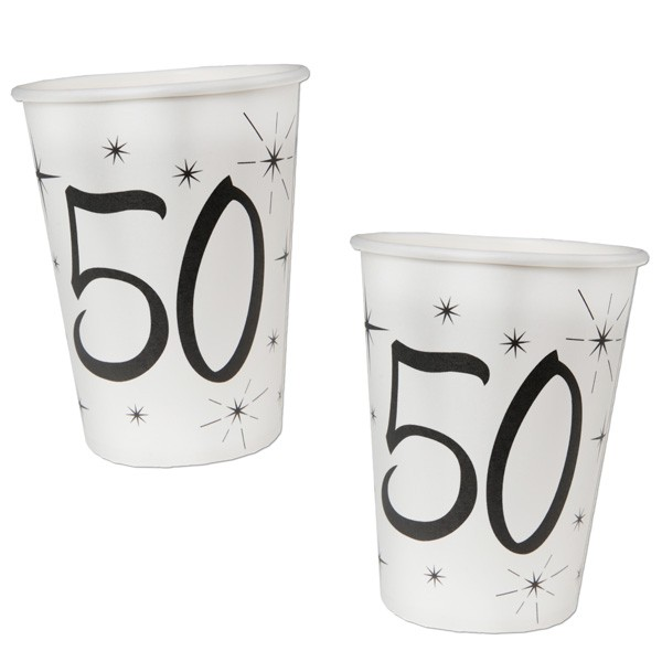Pappbecher 50. Geburtstag