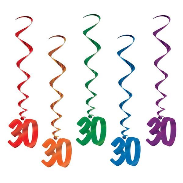 Spiralhänger 30ster Geburtstag