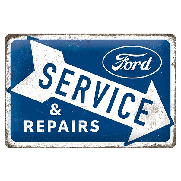 Blechschild Ford Service Repairs